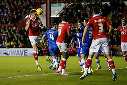 Matt Smith of Bristol City scores a goal to make it 1-0 (5-2 on aggregate) - Photo mandatory by-line: Rogan Thomson/JMP - 07966 386802 - 29/01/2015 - SPORT - FOOTBALL - Bristol, England - Ashton Gate Stadium - Bristol City v Gillingham - Johnstone's Paint Trophy Southern Area Final Second Leg.