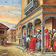 Painted series telling the story of Nicosia under siege, which happened in 1570 AD. Wherein Turks under the command of Lala Mustafa Pasha landed unopposed near Limassol on July 2, and laid siege to Nicosia. On the day the city fell, 20,000 Nicosians were put to death, and churches, public buildings, and palaces were looted.