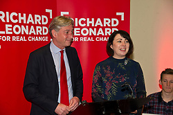 Pictured: Richard Leonard  and Monica Lennon MSP<br /> <br /> The Scottish Labour leadership candidate Richard Leonard visited the Serenity Cafe today tol deliver a keynote speech ahead of the ballots going out. Monica Lennon, MSP, introduced Mr Leonard to the audience<br /> <br /> Ger Harley | EEm 24 October 2017