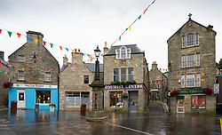 View of Market Cross in town centre of  Lerwick, Shetland , Scotland, UK