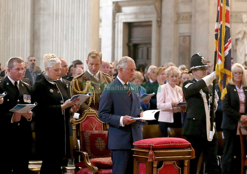 The Prince of Wales attends a service to commemorate National Police Memorial Day at St Paul's Cathedral in central London.