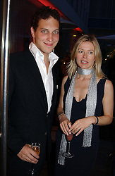 LORD FREDERICK WINDSOR and LADY HELEN TAYLOR at a party at The Sanderson Hotel, Bernnnnners Street, London in aid of Sargent Cancer Care for Children on 7th July 2004.