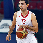 Turkey's Ender ARSLAN during their Istanbul CUP 2011match played Montenegro between Turkey at Abdi Ipekci Arena in Istanbul, Turkey on 25 August 2011. Photo by TURKPIX