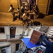 Mudanza. Barrio de Gracia.