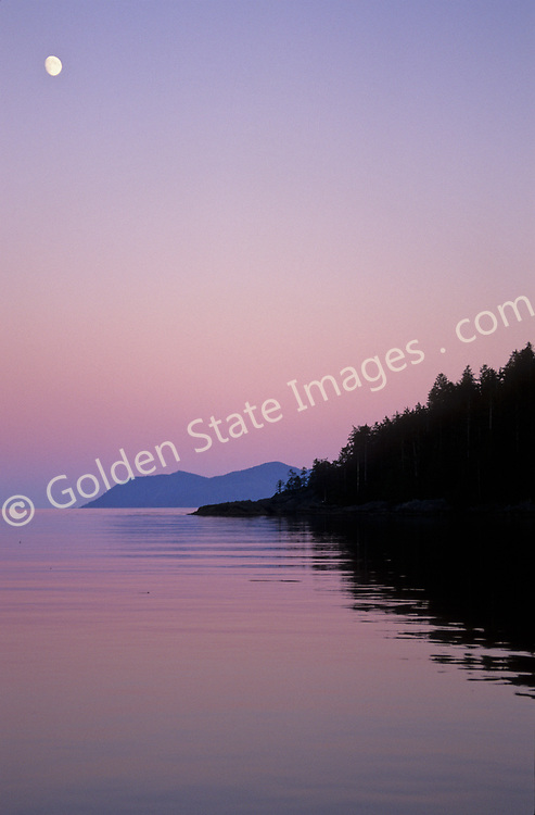In summer in British Columbia, twilight lasts late into the evening