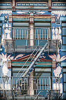 Architectural image of an Artfully painted SoHo Fire Escape.  Limited Edition 1 of 50