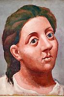 France, Paris (75), Musee Picasso, Tete de Femme, 1921 // France, Paris, Picasso museum, Head of Woman, 1921