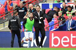 May 27, 2019 - London, England, United Kingdom - Derby County Manager Frank Lampard during the Sky Bet Championship match between Aston Villa and Derby County at Wembley Stadium, London on Monday 27th May 2019. (Credit: Jon Hobley | MI News) (Credit Image: © Mi News/NurPhoto via ZUMA Press)