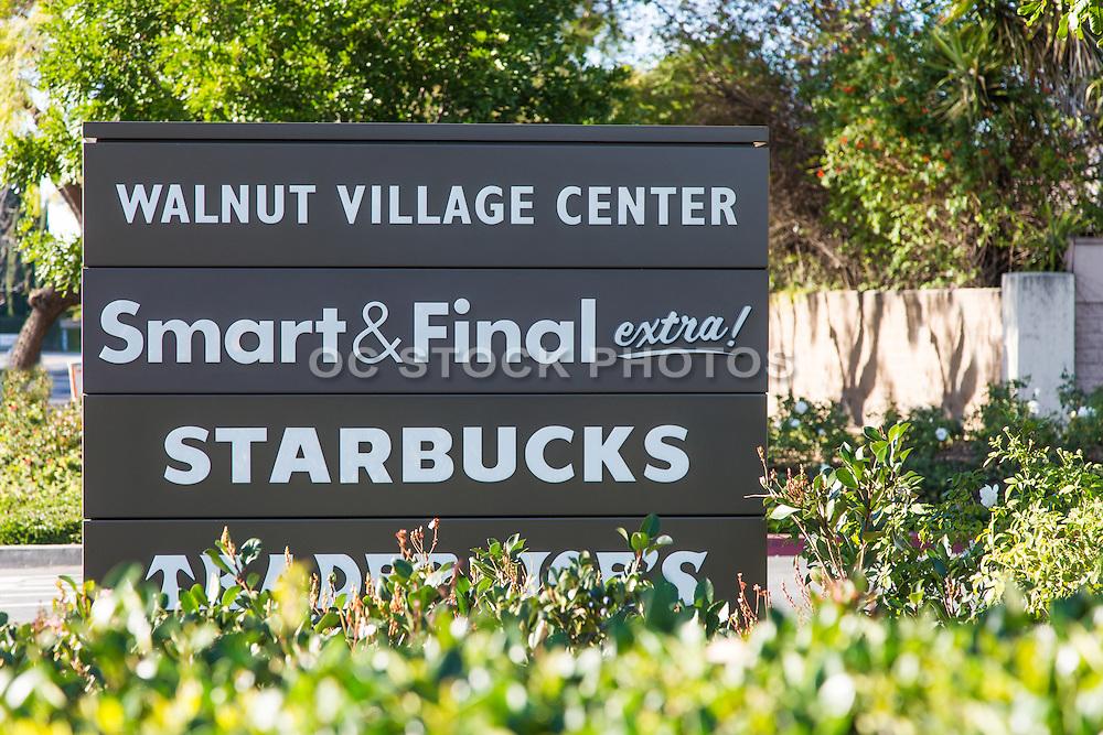 Walnut Village Center Irvine Signage