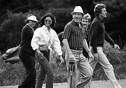 File photo dated 31/08/82 of Bruce Forsyth (centre) and Miss World 1975 Wilnellia Merced (second left), as the veteran entertainer has died aged 89.