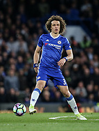 Chelsea's David Luiz in action during the Premier League match at Stamford Bridge Stadium, London. Picture date: April 25th, 2017. Pic credit should read: David Klein/Sportimage