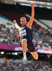 France's Kevin Mayer competes in the Men's Decathlon Long Jump during day eight of the 2017 IAAF World Championships at the London Stadium.