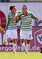 Fotball<br /> Tyskland<br /> 21.07.2013<br /> Foto: imago/Digitalsport<br /> NORWAY ONLY<br /> <br />  Fussball - Saison 2013 2014 - 2. Fussball - Bundesliga - 01. Spieltag: SpVgg Greuther Fürth Fuerth - DSC Arminia Bielefeld - / - Nikola Djurdjic (10, SpVgg Greuther Fürth ) Jubel Freude nach Tor zum 2:0 mit Zoltan Stieber (7, SpVgg Greuther Fürth )