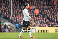 LONDON, ENGLAND - MARCH 31: (4) Virgil van Dijk  during the Premier League match between Crystal Palace and Liverpool at Selhurst Park on March 31, 2018 in London, England.