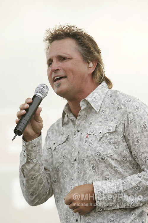 Country music group Diamond Rio performs at the Indianapolis Motor Speedway on August 6, 2005 in Indianapolis, IN. Photo by Michael Hickey