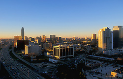 Stock photo of the Galleria area at sunset.