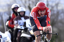 March 7, 2018 - Saint Etienne, France - SAINT-ETIENNE, FRANCE - MARCH 7 : WELLENS Tim  (BEL)  of Lotto Soudal in action during stage 4 of the 2018 Paris - Nice cycling race, an individual time trial over 18,4 km from La Fouillouse to Saint-Etienne on March 07, 2018 in Saint-Etienne, France, 7/03/2018 (Credit Image: © Panoramic via ZUMA Press)