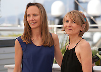 Directors Delphine Coulin and Muriel Coulin at the The Stopover (Voir Du Pays) film photo call at the 69th Cannes Film Festival Wednesday 18th May 2016, Cannes, France. Photography: Doreen Kennedy