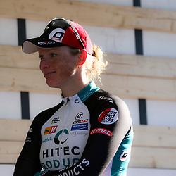 Een tevreden Kirsten Wild na haar overwinning in de 50e ronde van Gelderland