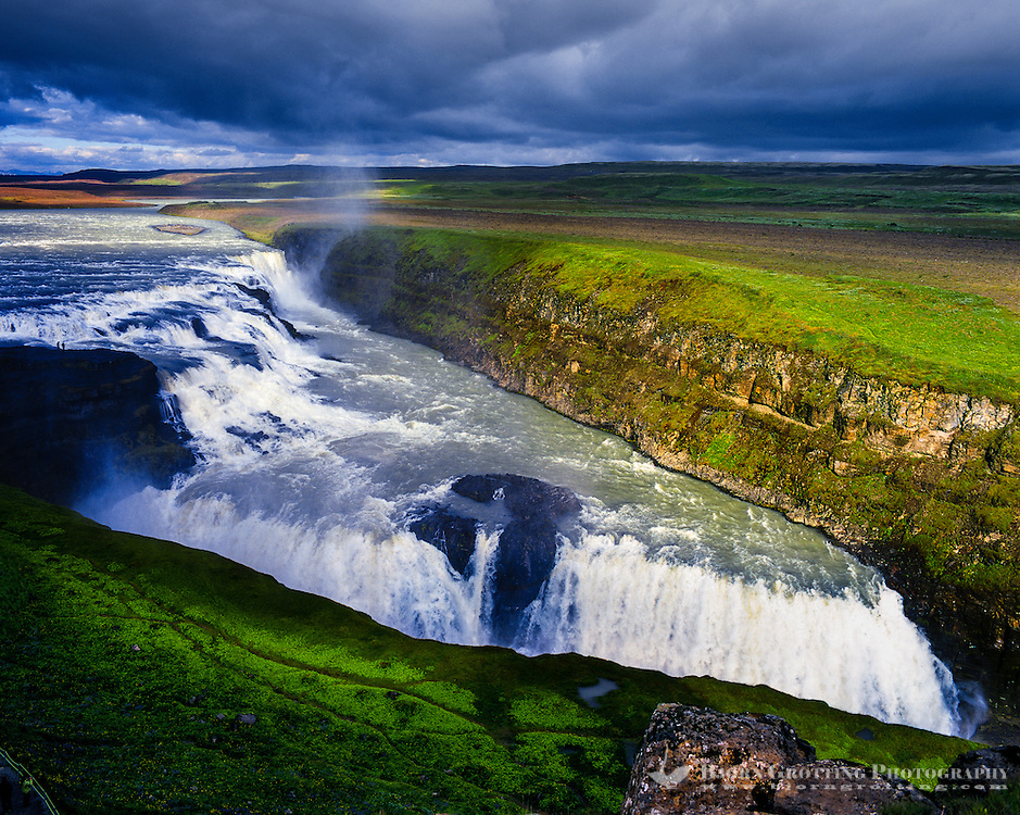Iceland. Gullfoss waterfall is one of the most popular tourist attractions in the country.