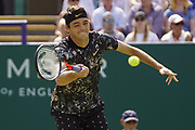 Taylor Fritz (USA) Beats Sam Querrey (USA) Action at the Nature Valley International Eastbourne 2019, at Devonshire Park, Eastbourne, United Kingdom on 29th June 2019.