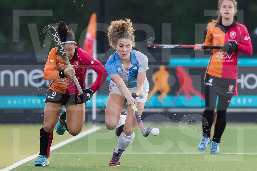 Eindhoven - Oranje Rood - Hurley Dames, Finale Gold Cup, Seizoen 2018-2019, 02-05-2019, Oranje Rood - Hurley 1-1, Oranje Rood wint na shootouts, Maria Jose Granatto (OR) en Natalie Sourisseau (Hur) <br /> <br /> (c) Willem Vernes Fotografie