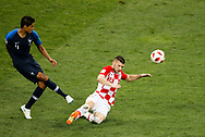 Raphael Varane of France and Ante Rebic of Croatia during the 2018 FIFA World Cup Russia, final football match between France and Croatia on July 15, 2018 at Luzhniki Stadium in Moscow, Russia - Photo Tarso Sarraf / FramePhoto / ProSportsImages / DPPI