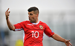 Gibraltar's Liam Walker during the UEFA Euro 2020 Qualifying, Group D match at the Victoria Stadium, Gibraltar.