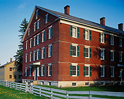 Brick Dwelling built in 1830 to house one hundred Shaker brethren and sisters, Hancock Shaker Village near Pittsfield, Massachusetts.