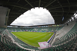 ST GALLEN, SWITZERLAND - Wednesday, July 15, 2009: A general view of the AFG Arena, home to Swizterland's FC St Gallen. (Pic by David Rawcliffe/Propaganda)