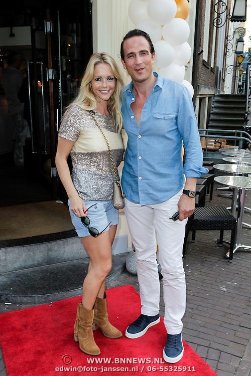 NLD/Amsterdam/20120706 - Verjaardagsfeest Gordon, Chantal Janzen en partner Marco Geeratz