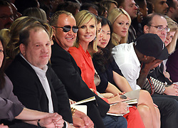 Harvey Weinstein, Michael Kors and Heidi Klum sit in the front row of Project Runway Season 8 Finale during the Mercedes Benz Fashion Week Spring Summer 2011 Presentations, held at Lincoln Center in New York City on September 09, 2010. Photo by Donna Ward/ABACAPRESS.COM (Pictured: Harvey Weinstein, Michael Kors, Heidi Klum)    243529_011 New York City