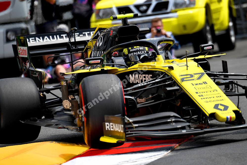 Nico Hulkenberg (Renault) during practice before the 2019 Monaco Grand Prix. Photo: Grand Prix Photo