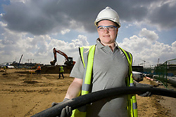 Olympic Park worker. Portrait of Olympic Park plumber's apprentice Catherine Neary. Picture taken on 29 May 09 by David Poultney.<br /> <br /> **Model Released**