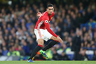 Chris Smalling of Manchester United in action. Premier league match, Chelsea v Manchester Utd at Stamford Bridge in London on Sunday 23rd October 2016.<br /> pic by John Patrick Fletcher, Andrew Orchard sports photography.