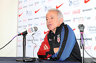 CARY, NC - FEBRUARY 28: U.S. Men's National Team head coach Dave Sarachan. The United States Men's National Team held a press conference on February 28, 2018 at Sahlen's Stadium at WakeMed Soccer Park in Cary, NC to preview an international friendly they will be playing in the stadium on March 27th.