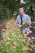 Environmental portraits of P. Allen Smith at Moss Mountain Farm in Little Rock, Arkansas.