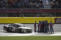 May 29, 2017 - Concord, NC, United States of America - May 29, 2017 - Concord, NC, USA: Austin Dillon (3) celebrates after taking the checkered flag and winning the Coca Cola 600 at Charlotte Motor Speedway in Concord, NC. (Credit Image: © Justin R. Noe Asp Inc/ASP via ZUMA Wire)