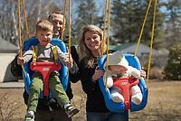 Lyons Lahey family portraits.   ©2021 Karen Bobotas Photographer