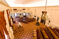 Overview of the Old House Chamber (with statue of Robert E. Lee), Virginia State Capitol, Richmond, Virginia USA