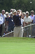 2001 Weetabix Women's British Open, Sunningdale Golf Course, Berks, Great Britain<br />  <br /> [Mandatory Credit Peter Spurrier/Intersport Images]<br /> <br /> Friday 3rd August 2001<br /> Scotland's Janice Moodie, play's a bunker shot at the 18th.