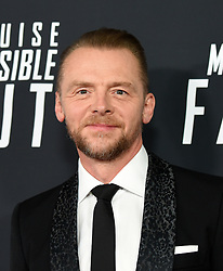 Simon Pegg poses for a picture during the U.S Premiere of 'Mission: Impossible - Fallout' at the National Air and Space Museum on July 22, 2018 in Washington, DC. Photo by Olivier Douliery/ Abaca Press