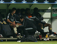 Photo: Paul Thomas.<br /> Werder Bremen v Chelsea. UEFA Champions League, Group A. 22/11/2006.<br /> <br /> Michael Ballack of Chelsea gets his left calf muscle taped up.