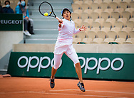 Shuai Zhang of China in action during the third round at the Roland Garros 2020, Grand Slam tennis tournament, on October 3, 2020 at Roland Garros stadium in Paris, France - Photo Rob Prange / Spain ProSportsImages / DPPI / ProSportsImages / DPPI