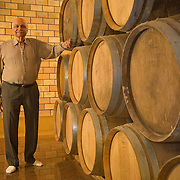 Kanwal Grover, Founder of Grover Vineyards in 1988, at the new wine cellar of the Grover Vineyards and Winery at Nandi Hills, Karnataka, India