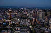 Seattle Center with South Lake Union, Belltown & Capitol Hill neighborhoods
