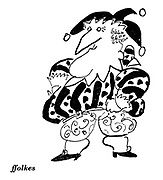(Portrait of Mr Punch in 120th anniversary issue)