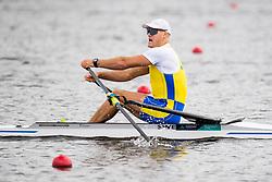 August 5, 2018 - Glasgow, UNITED KINGDOM - 180805 Anders Backeus of Sweden competes in the final B of men's single sculls rowing during the European Championships on August 5, 2018 in Glasgow..Photo: Jon Olav Nesvold / BILDBYRÃ…N / kod JE / 160285 (Credit Image: © Jon Olav Nesvold/Bildbyran via ZUMA Press)
