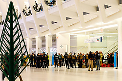 November 18, 2018 - New York, NEW YORK, UNITED STATES - Port Authority conducts emergency rescue training at Wolrd Trade Center station in New York City in the United States at dawn this Sunday. 18  (Credit Image: © William Volcov/ZUMA Wire)