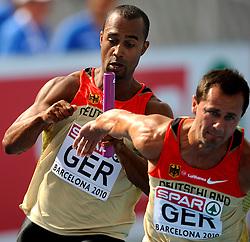 30-07-2010 ATLETIEK: EUROPEAN ATHLETICS CHAMPIONSHIPS: BARCELONA<br /> Marius Broening en Alexander Kosenkow GER <br /> ©2010-WWW.FOTOHOOGENDOORN.NL